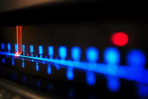 stereo receiver tuning scale
